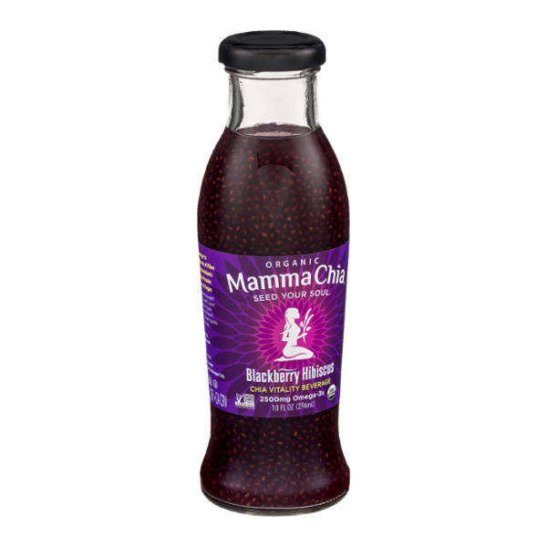 Mamma Chia Vitality Beverage Blackberry Hibiscus