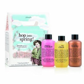 Philosophy Hop Into Spring Set (sugar chick, chocolate bunny and frosted cookie shampoo, shower gel & bubble baths)