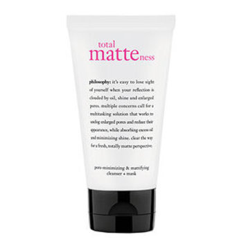 philosophy total matteness pore-minimizing & purifying cleanser + mask