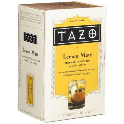 Tazo Lemon Mate Herbal Infusion Tea, 20-Count Tea Bags (Pack of 6)