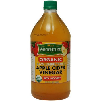 National Fruit Product Company, Inc. White House Organic Raw Unfiltered Apple Cider Vinegar with Mother, 32 fl oz