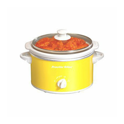 Proctor Silex Portable Oval Slow Cooker - Yellow (1.5 Quart)