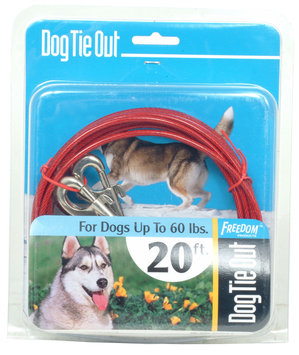 Roccorp, Inc. Beast Dog Tie Out 20 Feet - Red - 1-each