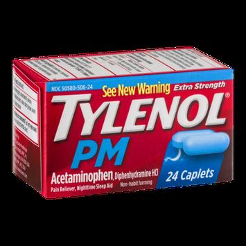 Tylenol PM Extra Strength Pain Reliever Nighttime Sleep Aid Caplets - 24 CT