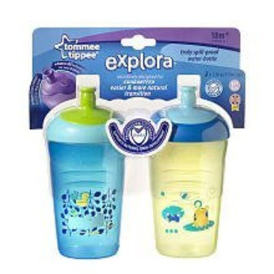 Tommee Tippee Explora Truly Spill-proof Water-bottle 2 Pk 12 Oz Colors May Vary