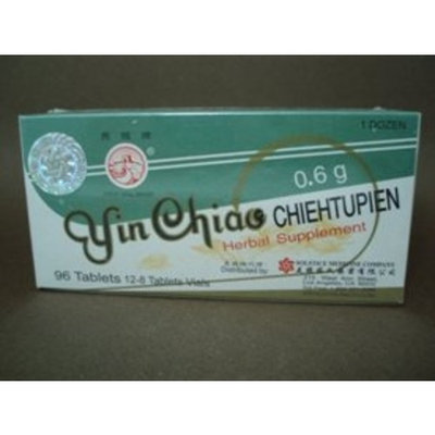 Great Wall Brand Yin Chiao Chieh Tu Pien - Herbal Supplement 96 Tablets (12 Vials, 8 Tablets Per Vial) - 3 Boxes