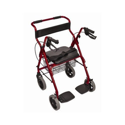 Mabis Transport / Chair Rolling Walker Color: Royal Blue