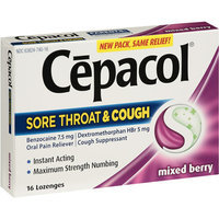 Cepacol Mixed Berry Sore Throat & Cough Lozenges
