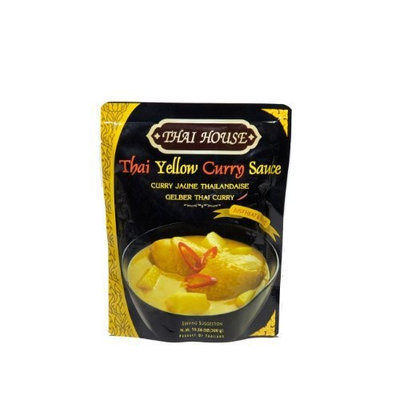 Thai House Yellow Curry Sauce, 10.58-Ounce Pouches (Pack of 6)