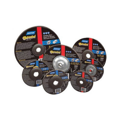Norton Type 27 Gemini Depressed Center Grinding Wheels - 7x1/4x5/8-11 general purpose raised hub fastcut