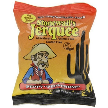 Stonewall's Jerquee, Peppy Pepperoni, 1.5-Ounce Packets (Pack of 16)