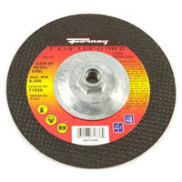 Forney 71836 Grinding Wheel with 5/8-Inch-11 Threaded Arbor Metal Type 27 A30R 7-Inch-by-1/8-Inch