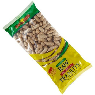 Sunland Organic Raw Valencia Peanuts In-Shell, 16-Ounce Bags (Pack of 24)