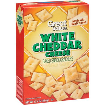 Wal-mart Stores, Inc. Great Value White Cheddar Cheese Baked Snack Crackers, 12.4 oz