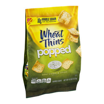 Wheat Thins Popped Chips Sour Cream & Onion Flavor