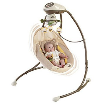 FISHER PRICE Fisher-Price - My Little Snugabear Cradle 'n Swing