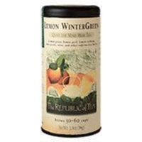 The Republic Of Tea Lemon Wintergreen Herbal Full-Leaf, 1.9 Ounces/50-60 Cups
