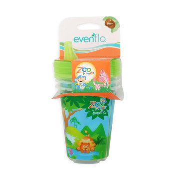 Evenflo Toddler's 3 Pack Sippy Cups Zoo Friends - EVENFLO JUVENILE FURNITURE CO.
