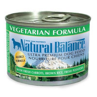 Natural Balance Vegetarian Formula Dog Food (Pack of 12 6-Ounce Cans)
