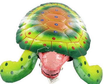 Large Multicolored Metal Haitian Handpainted Sea Turtle KIP