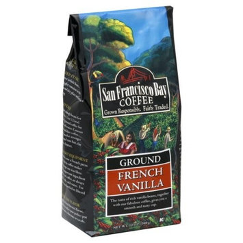 San Francisco Bay Coffee Ground French Vanilla Coffee, 12-Ounce Bags (Pack of 3)