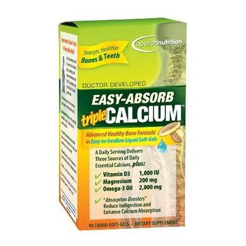 Applied Nutrition Easy-Absorb Triple Calcium, 90 Liquid Soft-Gels