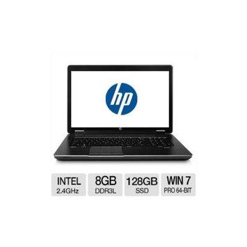HP ZBook 17 Intel Core i7 8GB Memory 128GB SSD + 500GB HDD 17.3
