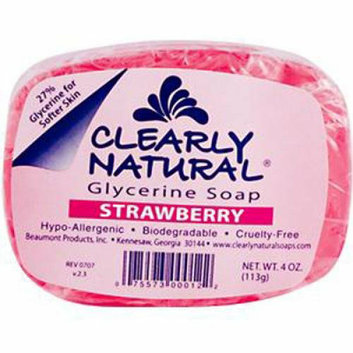Clearly Naturals Clearly Natural Glycerine Soap Bar Strawberry 4 oz