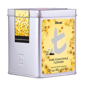 Dilmah, Luxury t-series Tea, 100% Pure Ceylon Single Origin, Pure Chamomile Flowers, 20 Luxury Tea Bags in Designer Caddy, 1.41oz Each, (Pack of 2)