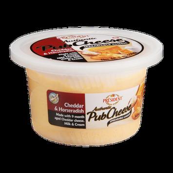 President Pub Cheese Cheddar & Horseradish