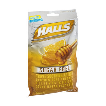 Halls Advanced Formula Sugar Free Honey-Lemon Flavor Suppressant Drops - 25 CT