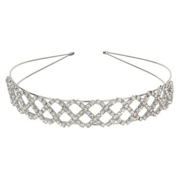 Social Gallery by Roman Crystal Headband - Silver