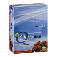 QuestBar Protein Bar Mixed Berry Bliss - 12 CT