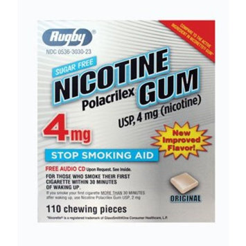 Rugby Laboratories NICOTINE GUM 4 MG KIT ***RUG Size: 110