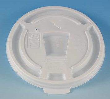 WINCUP DT10 Disposable Lid, Drink Thru, White, PK 1000