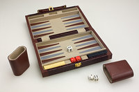 Sunnywood, Inc. Sterling Games 10-Inch Backgammon Set - Brown Pebble