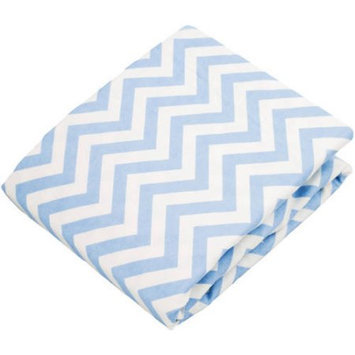 Kushies Baby Change Pad Fitted Sheet Blue Chevron
