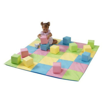The Children's Factory Children's Factory Pastel Matching Mat & Block Set