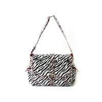 Kalencom Laminated Buckle Bag, Zebra Black/White