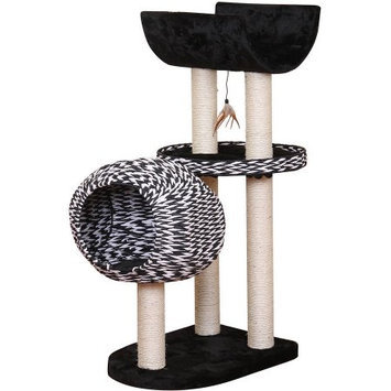 Petpals Group PetPals Spade Contemporary Luxury Cat Condo with Curved Napping Perch