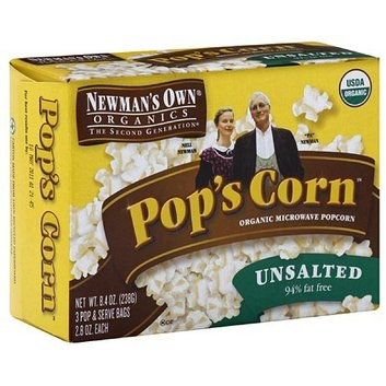 Newman's Own Organics The Second Generation Pop's Corn Microwave Popcorn