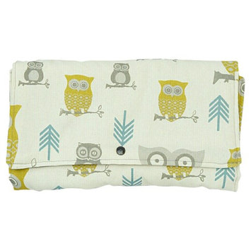 Brownie Gifts Natural Owl Diaper Clutch