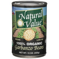 Natural Value Organic Garbanzo Beans, 15 Ounce Cans (Pack of 12)