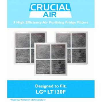 Crucial Air 3 LG LT120F Air Purifying Fridge Filters, Part # ADQ73334008 & ADQ73214404