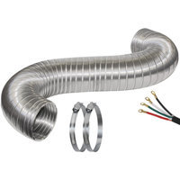 Certified Appliance 77011 8' Dryer Duct Kit with 6' Cord