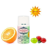 Sweetsation Therapy Sun*Si'Belle+ SPF 50 Organic Triple Action Moisturizer, with Antioxidants, CoQ10 and Hyaluronic Acid.