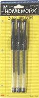 Bulk Buys Gel Pens - black ink - 3 pk - Case of 48