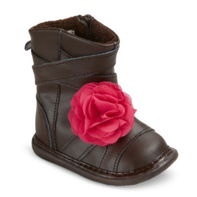 Infant Toddler Girl's Wee Squeak Cross Strap Fashion Boots - Brown 3