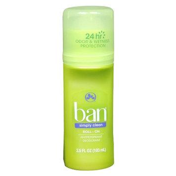 Ban Simply Clean Roll-On Antiperspirant & Deodorant