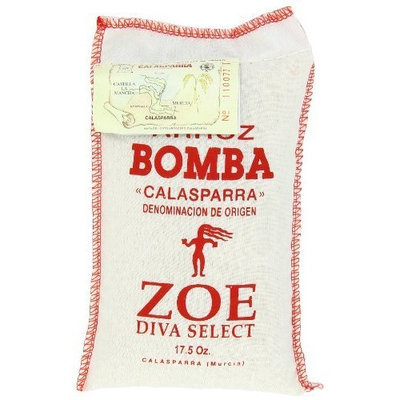 Zoe Diva Select Bomba Rice, 17.5 Ounce Bag (Pack of 2)